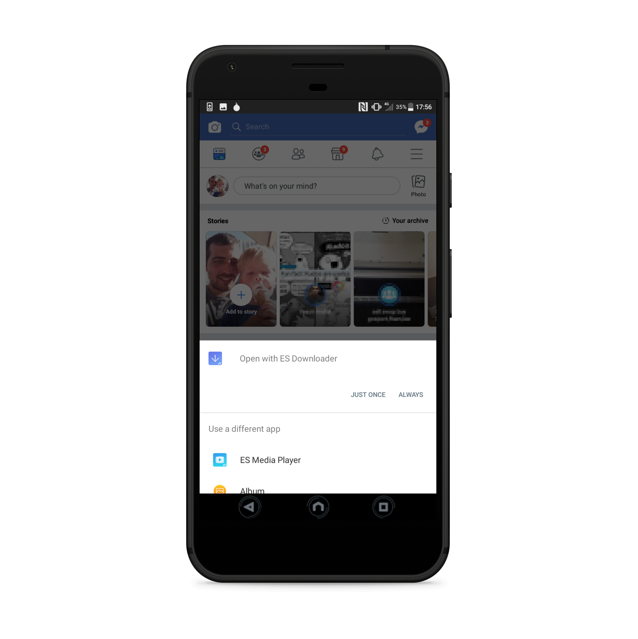 Ashley King - Downloading any file via Facebook for Android